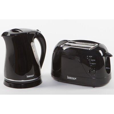 Igenix 2 Slice Toaster and Rapid Boil Kettle Breakfast Set
