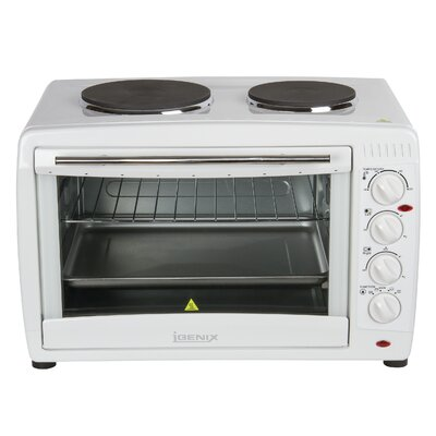 Igenix 45L Countertop Microwave with Double Hotplates in White