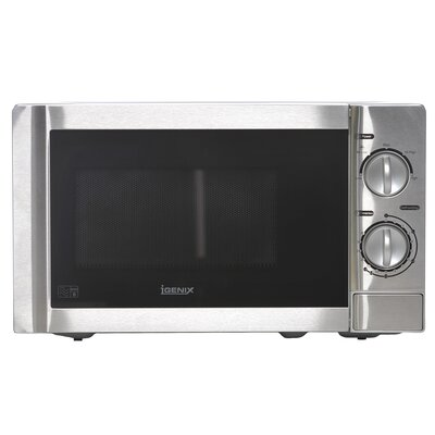 Igenix 20L 800W Countertop Microwave in Stainless Steel