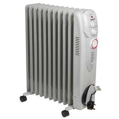 Igenix Oil Filled 2,500 Watt Portable Electric Radiator Heater with 24H Timer