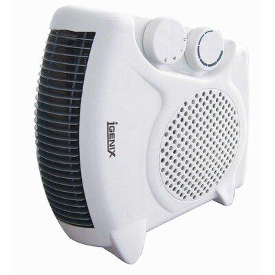 Igenix Flat/Upright 2,000 Watt Portable Electric Fan Compact Heater
