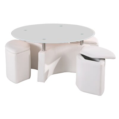 Ark Furniture Wholesale Milano Coffee Table with Nested Stools