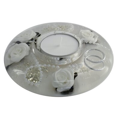 Dreamlight Teelichthalter Wedding Light White aus Glas