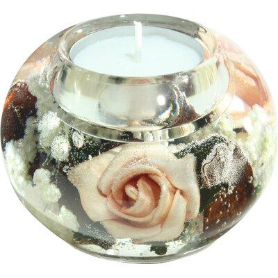 Dreamlight Teelichthalter Antique Rose aus Glas