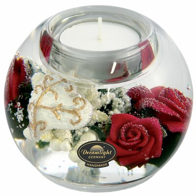 Dreamlight Teelichthalter Pretty Rose aus Glas