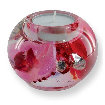 Dreamlight Teelichthalter Orchid Diamonds aus Glas