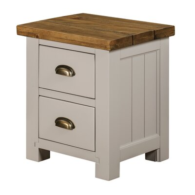 SWS Import Vienna 2 Drawer Bedside Table