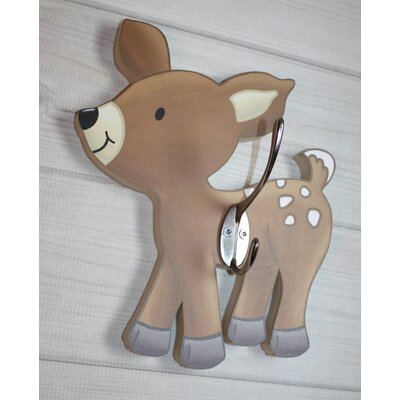 Toad and Lily Deer Kids Wall Hook