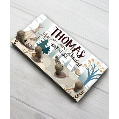 Adventure Personalized Wall Mounted Coat Rack