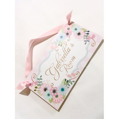 Flowers Girls Personalized Door Sign