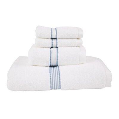 Luxury Quick-Dry Dobby Performance Core 4 Piece Towel Set Color: Slate Blue