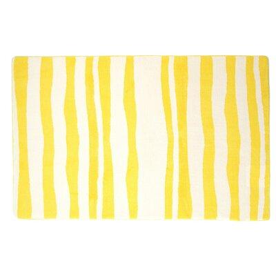 Lemon Yellow Large Memory Foam 40 x 64 Bath Rug