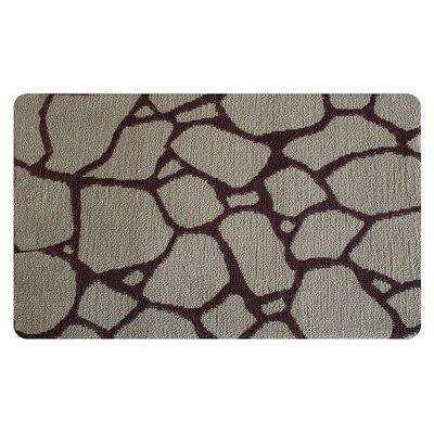 Stones Memory Foam Bath Rug Color: Brown/Cream