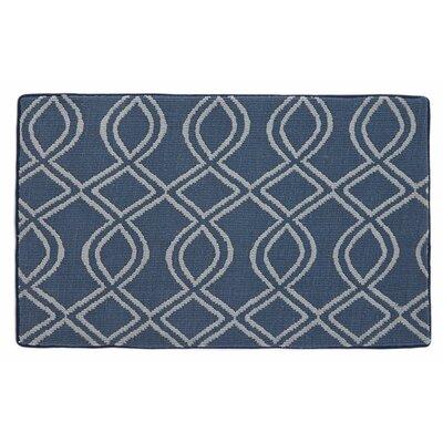 Memory Foam Navy Blue Bath Mat