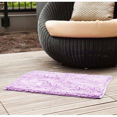 "Chenille Bath Rug Rug Size: 1'6"" x 2'4"", Color: Lavender"