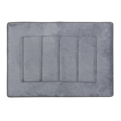 Ultra-Soft Memory Foam Bath Mat Color: Slate Gray