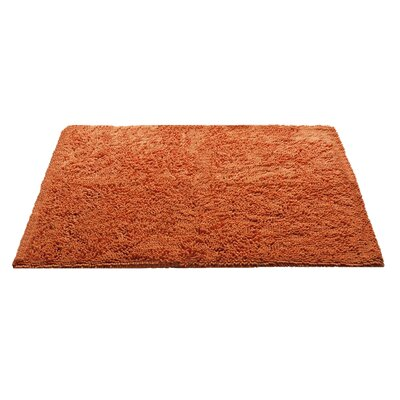 "Chenille Bath Rug Rug Size: 3' x 3'11"", Color: Orange"