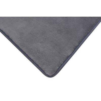 Memory Foam Bath Rug Color: Gray