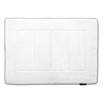 Memory Foam Bath Rug Color: White