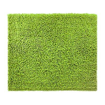 "Chenille Bath Rug Rug Size: 2'4"" x 3', Color: Green Apple"