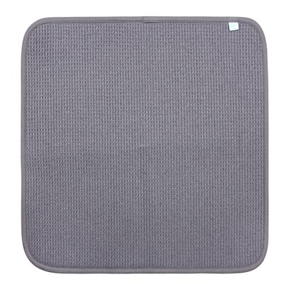 """Dish Drying Mat Color: Grey, Size: 16"""" W x 18"""" D, Set of: 2"""