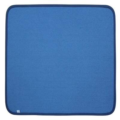 """Dish Drying Mat Color: Blue, Size: 16"""" W x 18"""" D, Set of: 1"""