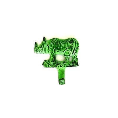 Rhino Wall Hook Finish: Green