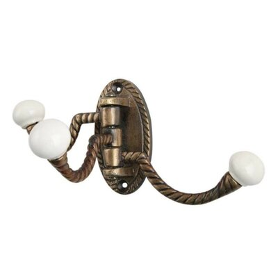 Woodcliff Three in One Wall Hook Color: Antique Brass
