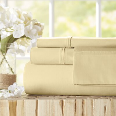 Twain Luxury 1000 Thread Count Egyptian Quality Cotton Sheet Set Color: Ivory, Size: Queen