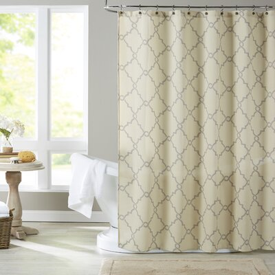 Somerset Shower Curtain Color: Beige