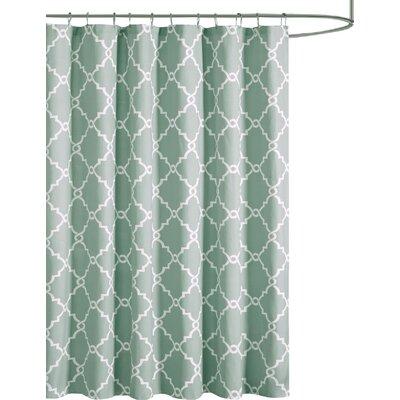 Somerset Shower Curtain Color: Seafoam