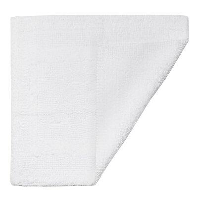 """Clarke Bath Mat Size: 17"""" W x 24"""" L, Color: White"""