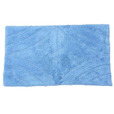 "Barnes Diamond Bath Rug Size: 30"" H X 20"" W, Color: Medium Blue"