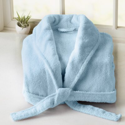 Burroughs Turkish Cotton Kimono Bathrobe Color: Baby Blue