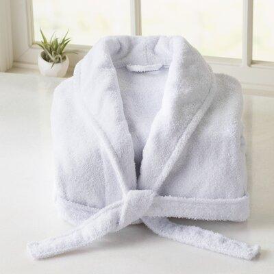 Burroughs Turkish Cotton Kimono Bathrobe Color: White