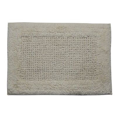 "Stephon 100% Cotton Naples Spray Latex Back Bath Rug Color: Silver, Size: 30"" H X 20"" W"