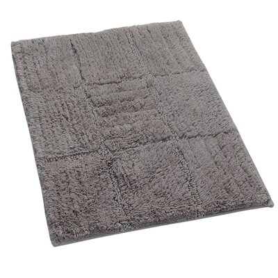 "Nathen 100% Cotton Chakkar Board Spray Latex Back Bath Rug Color: Stone, Size: 34"" H X 21"" W"
