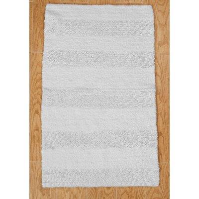 """Verne 100% Cotton Wide Cut Reversible Bath Rug Size: 34"""" H X 21"""" W, Color: White"""
