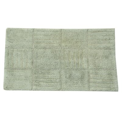 "Nathen 100% Cotton Chakkar Board Spray Latex Back Bath Rug Color: Light Sage, Size: 30"" H X 20"" W"