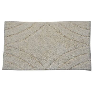 "Barnes Diamond Bath Rug Color: Ivory, Size: 40"" H X 24"" W"