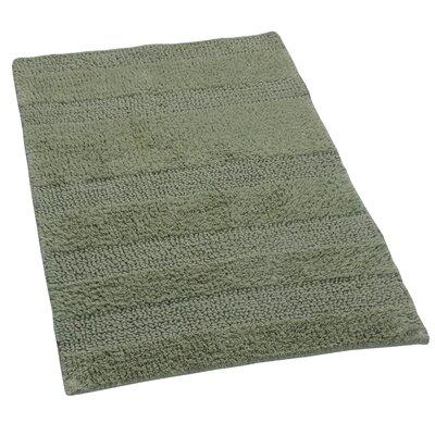 """Verne 100% Cotton Wide Cut Reversible Bath Rug Color: Light Sage, Size: 40"""" H X 24"""" W"""