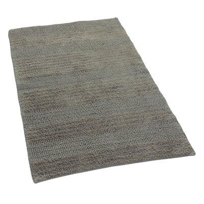 """Verne 100% Cotton Wide Cut Reversible Bath Rug Color: Stone, Size: 40"""" H X 24"""" W"""