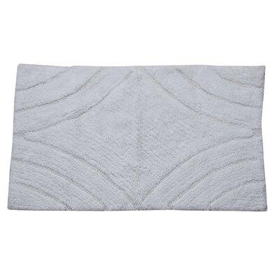 "Barnes Diamond Bath Rug Size: 30"" H X 20"" W, Color: White"