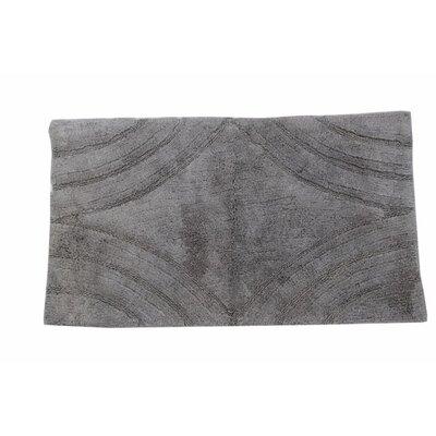 "Barnes Diamond Bath Rug Color: Silver, Size: 34"" H X 21"" W"
