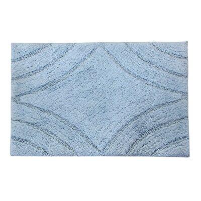 "Barnes Diamond Bath Rug Size: 30"" H X 20"" W, Color: Light Blue"