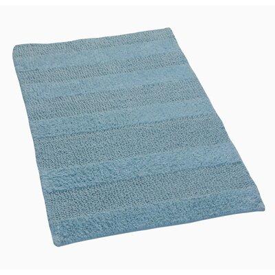 """Verne 100% Cotton Wide Cut Reversible Bath Rug Color: Light Blue, Size: 40"""" H X 24"""" W"""