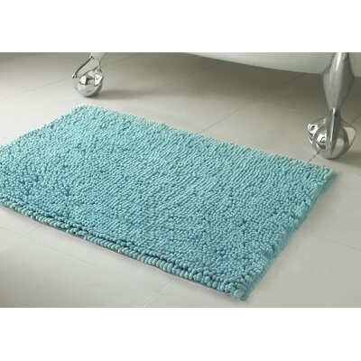 Garlyn Plush Bath Mat Set Color: Marine Blue