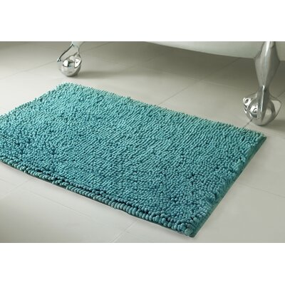 Garlyn Plush Bath Mat Set Color: Aqua