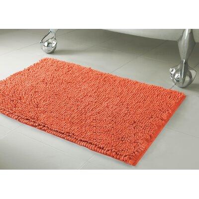 Garlyn Plush Bath Mat Set Color: Coral