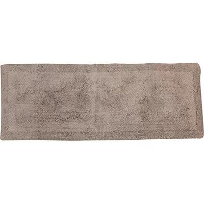 "Golding 100% Cotton Bella Napoli Reversible Bath Rug Color: Silver, Size: 60"" H X 22"" W"